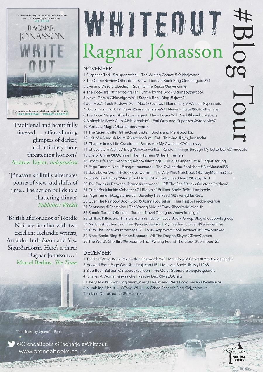 White Out (Dark Iceland #5) by Ragnar Jónasson #BlogTour ...